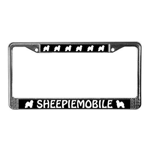 Sheepdog License Plate Frame - CafePress - Old English Sheepdog License Plate Frame - Chrome License Plate Frame, License Tag Holder