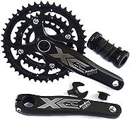 ZJJX Mountain Bike Crankset, 104 BCD Integrated Hollow Crankset,Easy to Modify Single Crank Set for Bicycle Cr