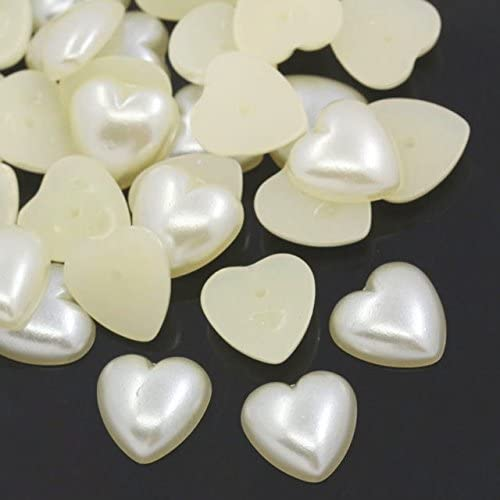 200 GOLD PEARLISED FLAT HEART SHAPED BEADS 8MM WEDDING INVITES//CRAFTS BARGAIN!