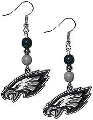 Siskiyou Sports NFL Philadelphia Eagles Fan Bead Dangle Earrings