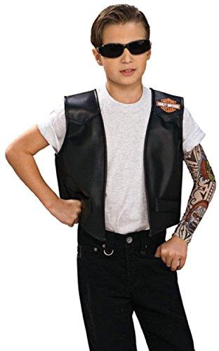 [Harley Boy Vest Costume] (Biker Kid Costume)