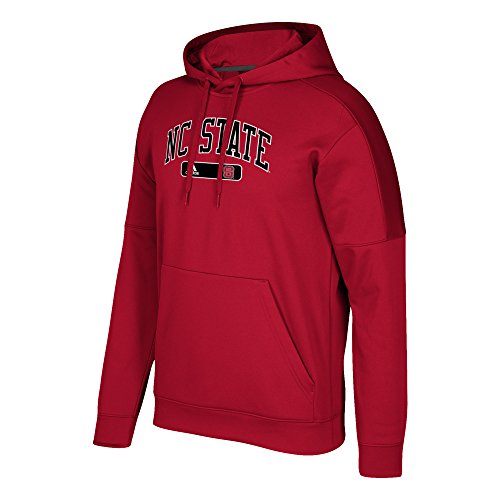 adidas NCAA North Carolina State Wolfpack Mens Arched Heat Team Issue Fleece Pullover Hoodarched Heat Team Issue Fleece Pullover Hood, Power Red, (Nc State Wolfpack Fleece)
