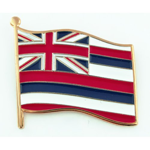 PinMart Hawaii US State Flag HI Enamel Lapel Pin 1