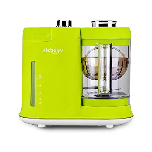 n 1 Steam Cooker and Blender Processor, 4.7 Cups BPA Free PPSU Material Tritan, Baby Food Grinder, Chop, Sterilizer, Deforest, Clean Function Auto Shut-Off One Key Operation Best for Toddlers and Infants ()