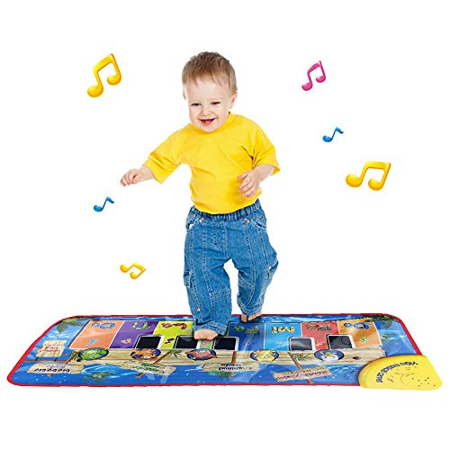 Keyboard Music Play Mat Toys, Kids Musical Floor Touch Dancing Mat Educational Games Gym Toys for Baby Girls Boys Kids 1-6 Years Old,35x79CM (Multicolor) ()