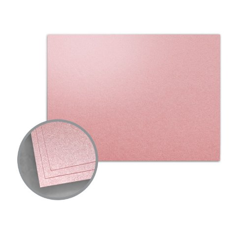 ASPIRE Petallics Mountain Rose Flat Cards - A2 (4 1/4 x 5 1/2) 98 lb Cover Metallic C/2S 800 per Carton