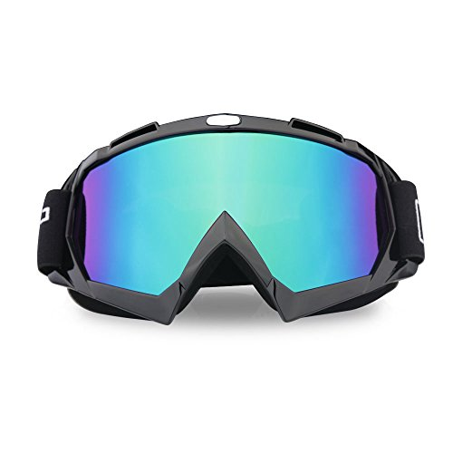 ThyWay Ski Motorcycle Goggles, Anti UV Anti Scratch Dustproof Windproof Safety Unisex Goggles Fit for Snow Skiing, Cycling, Climbing, Riding & Outdoor Sports Eyewear Colorful Lens Glasses