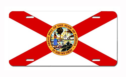 U.S. State Flag Front Plate License / Vanity Plate – Made in the U.S.A. (Florida)