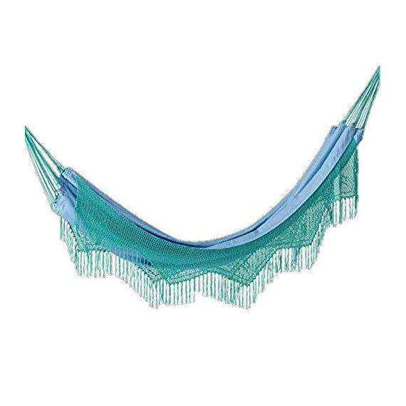Opalhouse Macrame Hammock with Fringe - Light Blue -  - patio-furniture, patio, hammocks - 41Hx3VVICtL. SS570  -
