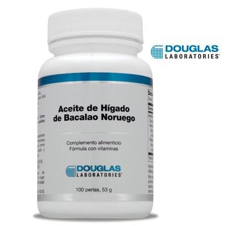 Aceite de Higado de Bacalao Noruego - Laboratorios Douglas - 100 Cápsulas