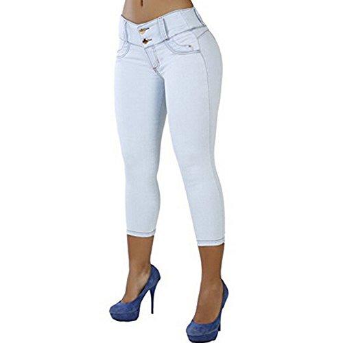 Cheap LEO BON Elastic Women Casual Capri Jean Skinny Trendy Brazilian-Style Jeans Stretch Pencil Denim Pants