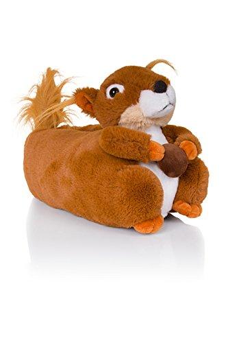 Animal Squirrel De Para 3d En Pantuflas Mujer Diseño Brown X81qYwSw