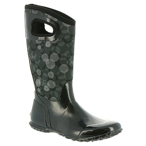 Bogs Women's North Hampton Rain Snow Boot, Black/Multi, 9 M US by Bogs (Image #1)