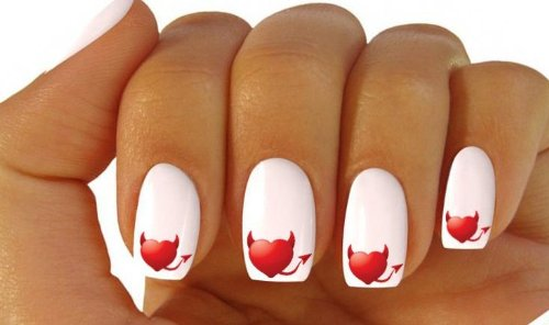 X20 nail art wrap water transfer stickerdecals red devil horns x20 nail art wrap water transfer stickerdecals red devil hornstail hearts 296 amazon beauty prinsesfo Choice Image