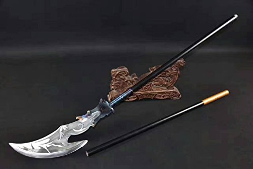 Kung Fu Chinese sword,Battle-axe(High manganese steel blade,Stainless steel rod) Chinese martial arts