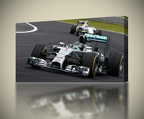 Formula 1 F1 Race Cars CANVAS PRINT Wall Decor Giclee Art Poster CA491, Huge (1 Giclee Print)