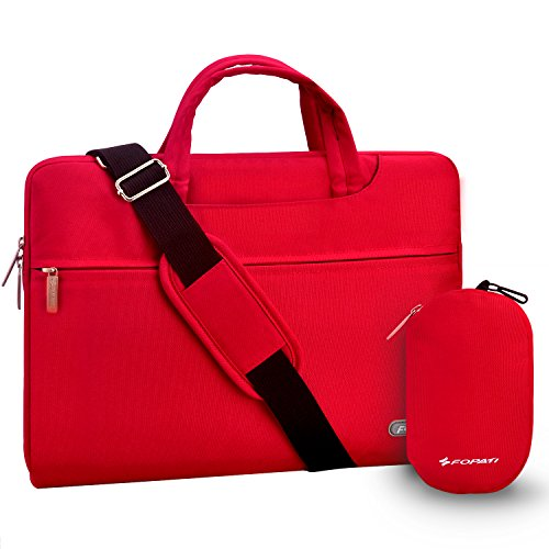 Laptop Shoulder Bag, 11-11.6 inch Tablet Laptop Case, Slim Briefcase Computer Bag Business Handle Carrying Bag Waterproof Notebook Messenger Bag Sleeve for MacBook Air 11 12, Surface Pro 4 - Red
