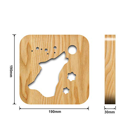 Amazon com: LED Wood Carving Light Signs,Adorn Life Wolf Shaped