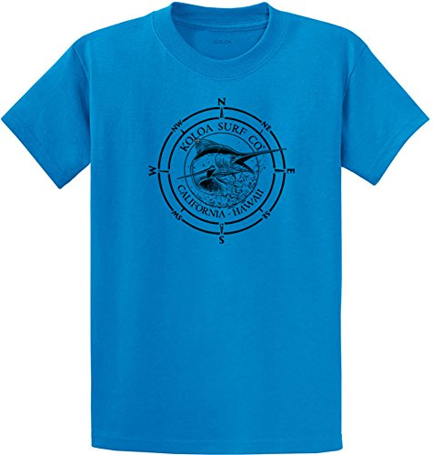 Koloa Surf Black Marlin Logo Heavyweight Cotton T-Shirts in Regular, Big & Tall