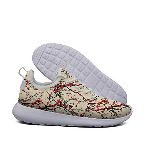 For Design Shoes Walking Running Tree Retro Sneaker China Casual Opr7 Tea Cherry Women Pots Lightweight Japanese 8qawpY5