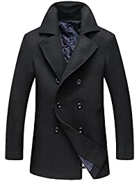 Men's Fitted Overcoat Cashmere Pea Coat
