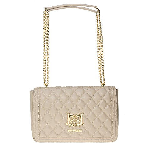 Love Moschino Quilted Chain Womens Handbag Natural by Love Moschino
