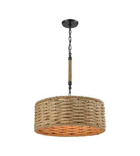 Chandeliers 3 Light with Oil Rubbed Bronze Medium Base 19 inch 180 Watts - World of Lamp