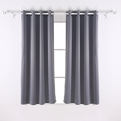 Deconovo solid thermal insulated blackout window curtains for Super insulated windows