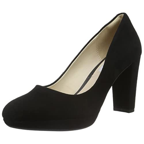 chollos oferta descuentos barato Clarks Kendra Sienna Zapatos de Tacón para Mujer Negro Black Suede 36 EU