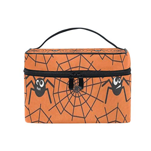 Toiletry Bag Halloween Spider Webs Womens Beauty Makeup Case Brush Cosmetic -