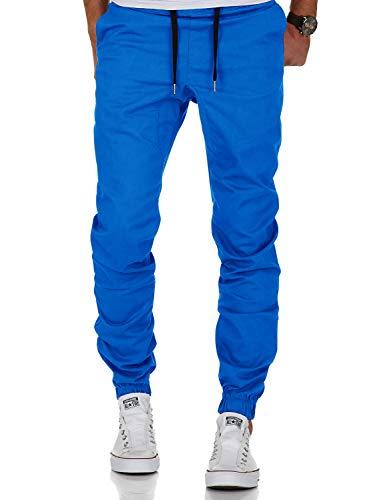 Aitosula Hombres Casual Jogger Azul Trouser Slim Chino Fit Pantalones Jogging Pantalón qSwfrxqRF