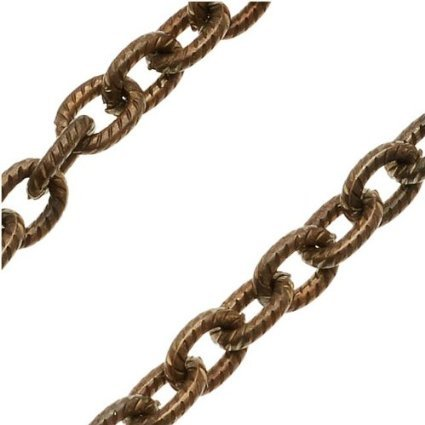 3 Feet! Vintaj Natural Brass Petite Etched Cable Chain 4x5mm.CH35-3 FOOT LENGTH! Natural Brass, Jewelry Making, Necklace chain, Bracelet chain