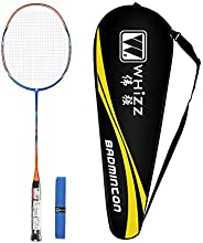 Whizz Professional Badminton Racket for Adults, 100% High Modulus Graphite, Carrying Bag & Grip Incl
