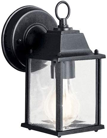 Kichler 9794BKL18 Barrie Outdoor Wall Sconce, 1-Light LED 10 Watts, Black