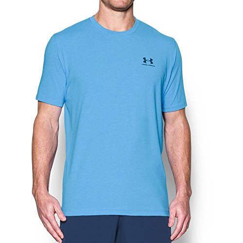 Under Armour Men's Charged Cotton Sportstyle T-Shirt, Water/Blackout Navy, Medium