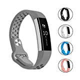 Bepack Fitbit Alta Alta HR Band - Soft Silicone Adjustable Replacement Accessory Wristband Breathable Sport Strap for Fitbit Alta Alta HR Smart Watch Heart Rate Fitness