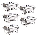 CHAFER 5 PACK CATERING STAINLESS STEEL CHAFER FULL SIZE 8 QT BUFFET