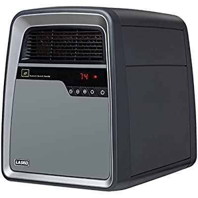 Lasko COOL TOUCH Quartz Infrared Heat Exchanger with All NEW SmartSave Function, Features Silent Blower Operation with Multi Heat Options, Safety Tip-Over and OverHeat Protection, Recessed Castor Wheels & Remote Control Included