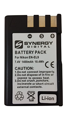 (Synergy quality replacement for Nikon ENEL9, 1400mAh)