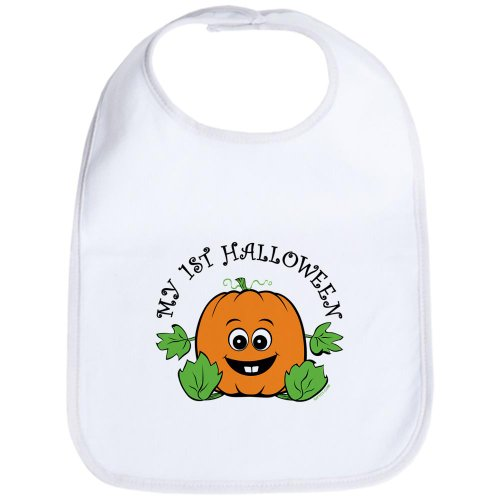 CafePress - My First Halloween [Pumpkin] - Cute Cloth Baby Bib, Toddler Bib