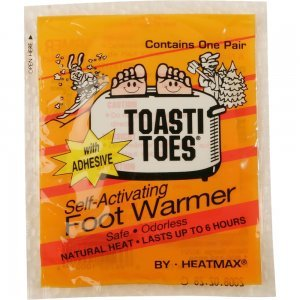 HeatMax TT224PDQ HotHands Toasti-Toes Toe Warmers with Adhes