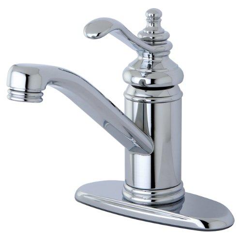 (Kingston Brass KS3401TL Templeton 4-Inch Single Handle Centerset Lavatory Faucet with Push Up Drain, Polished Chrome )