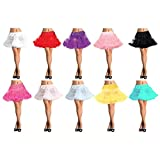 GSG Petticoat Layered Tulle Adult Womens Halloween Costume Accessory Fancy Dress