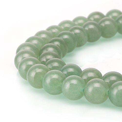 (BRCbeads Aventurine Gemstone Loose Beads Natural Round 6mm Crystal Energy Stone Healing Power for Jewelry Making- Green)