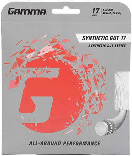 Gamma Synthetic Gut 17G Tennis String, White