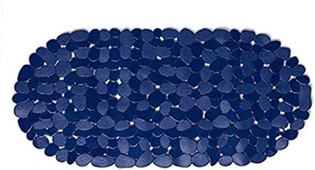 GHHQQZ バスルームのカーペット ノンスリップ マッサージ バスルームラグ 環境を守ること PVC キッチン トイレ フットパッド、 5色、 厚さ0.2 Cm、 36x69cm (Color : Blue, Size : 36x69cm)