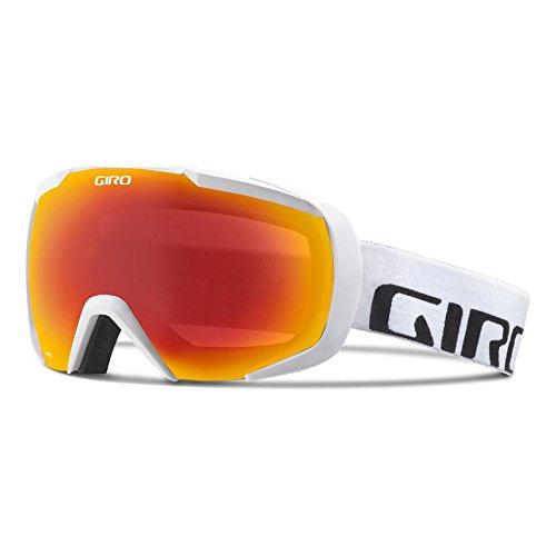 Giro Onset Snow Goggle - Men's White Wordmark with Amber Scarlet - Lens Scarlet