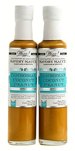 Coconut Dipping Sauce - Wozz Kitchen Creations Cambodian Coconut Peanut Sauce Set of 2 (Each Bottle 8.5 Fl. Oz)