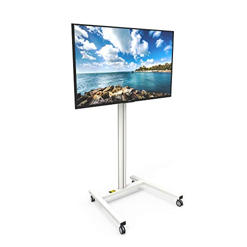 MKH65W Rolling TV Stand for 37-inch to 65-inch Displays, White