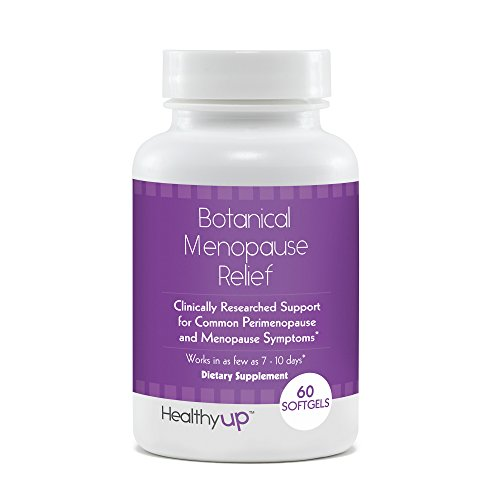 HealthyUp Botanical Menopause Relief Herbal Supplements for Women | For Hot Flash Relief and Better Sleep*| Clinically Researched Ingredients | 60 Maximum Strength Softgels | Vegetarian, Estrogen Free